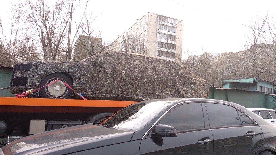 В московской пробке сфотографировали новый лимузин Путина
