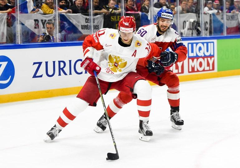 Чехи прервали победную серию сборной России