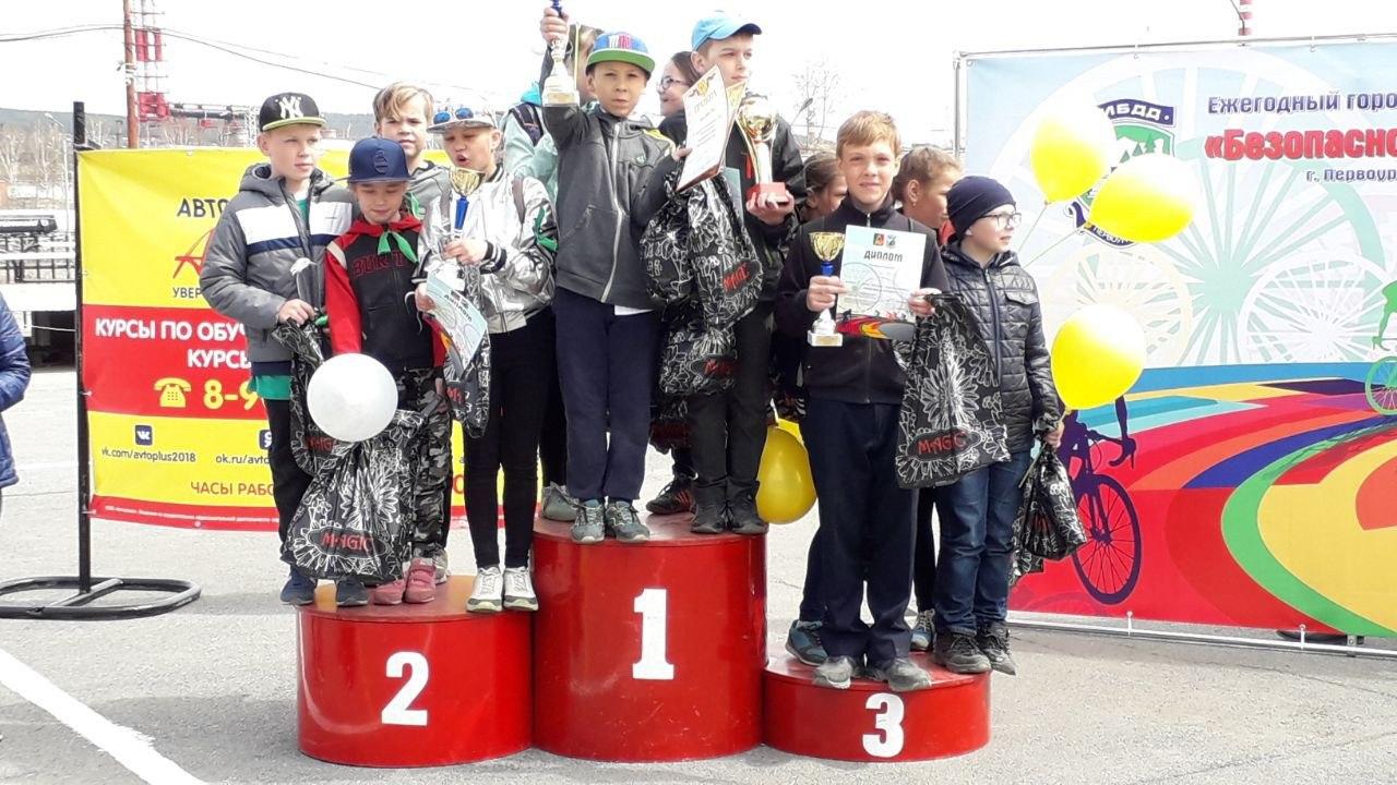 Лучшие юные велосипедисты соревновались между собой