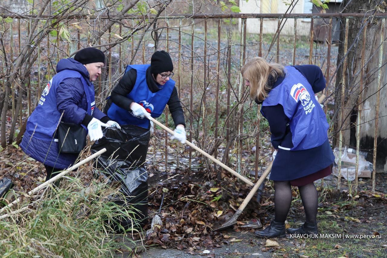 Администрация и общественники Первоуральска продолжают делать город чище