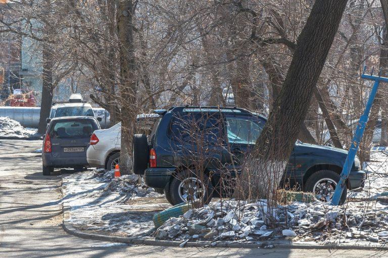 За парковку на газоне будут наказывать штрафом до 500 000 рублей