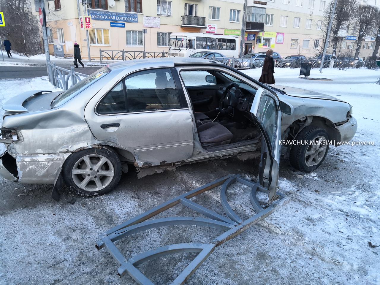 ДТП в центре Первоуральска попало на видео