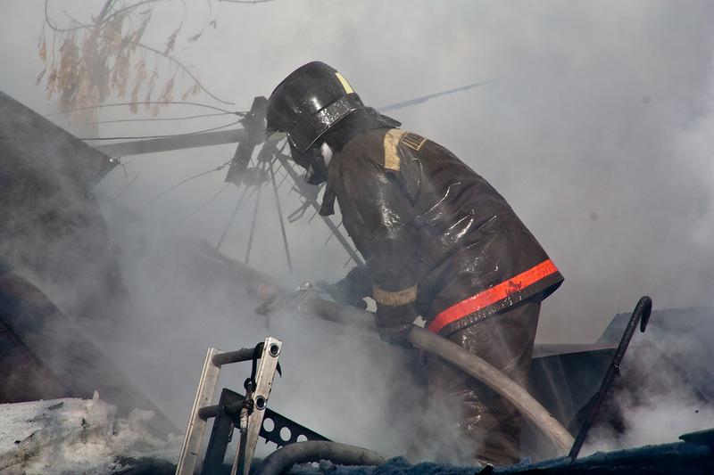 В Кузино при пожаре погиб мужчина