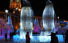 На Площади 1905 года в Екатеринбурге закрывается ледовый городок