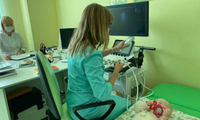 Детская больница получила стационарный УЗИ