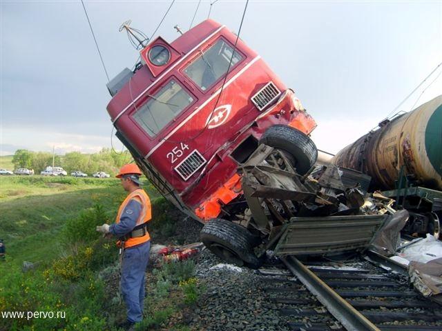 фото аварий с поездом