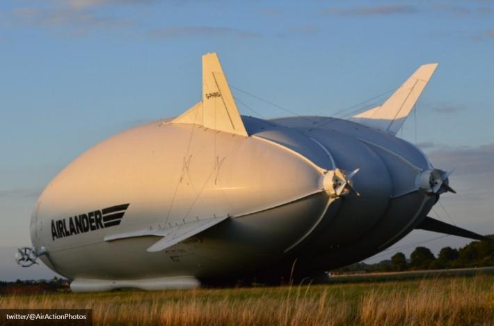 НаБританских островах провели испытание крупнейшего воздушного судна Airlander 10