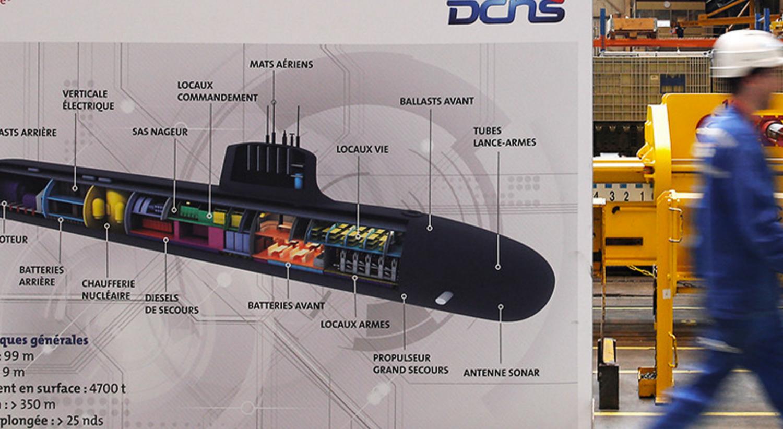 СМИ проинформировали  обутечке секретных данных пофранцузским субмаринам