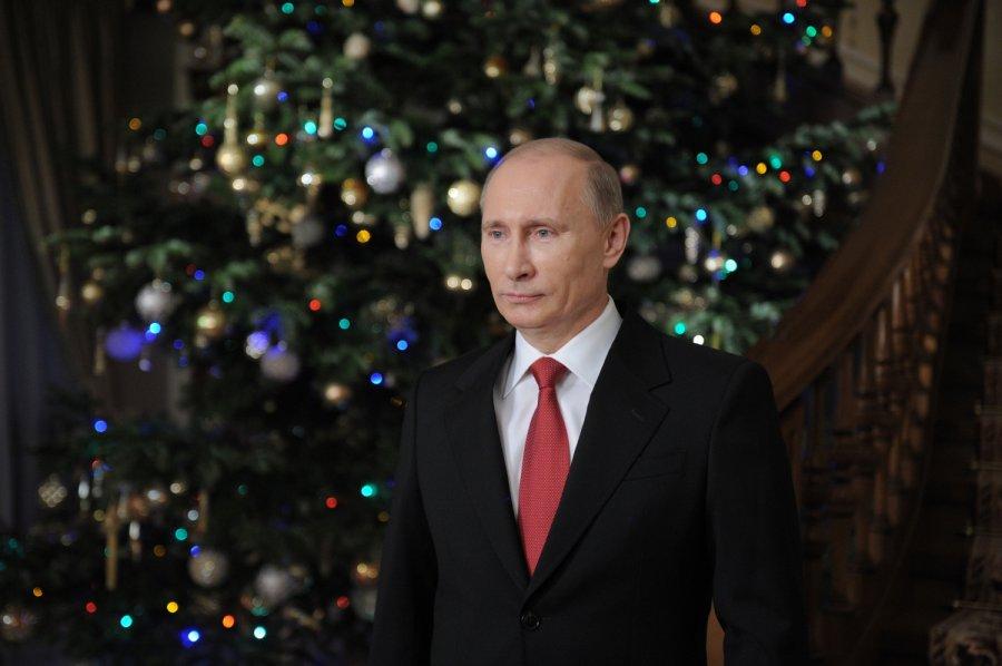 Путин поздравил россиян с Новым годом 2017