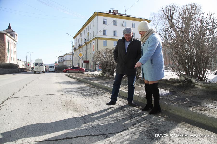 Эдуард Вольхин проинспектировал отремонтированные дороги Первоуральска