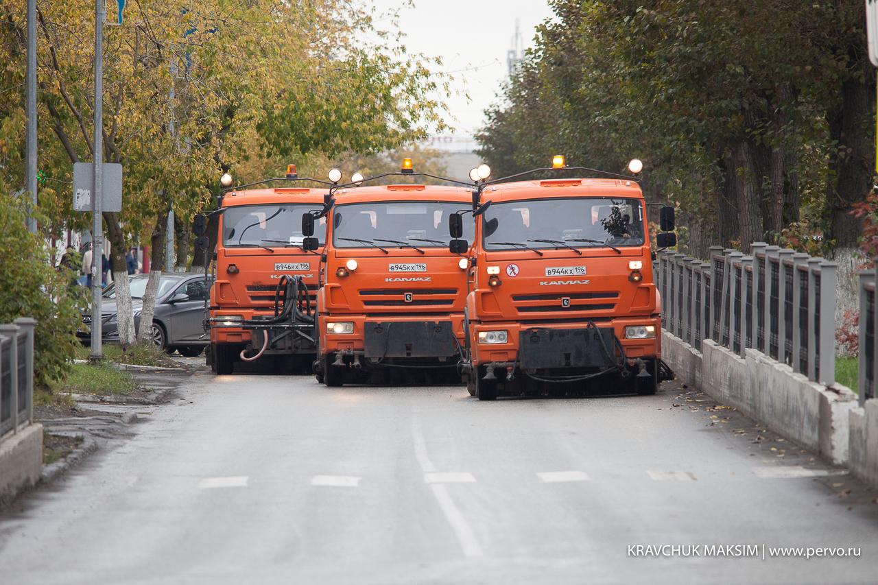 Первоуральск поддержал Всероссийский парад коммунальной техники